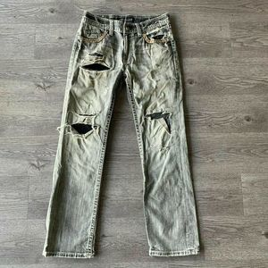 Affliction Cooper Jeans Waist 33 Relaxed Boot Cut